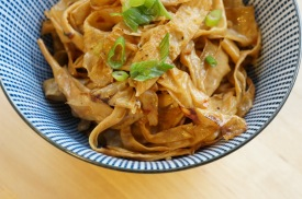 """""""Spicy Yuba Ribbons"""" from """"Asian Tofu"""" by Andrea Nguyen"""