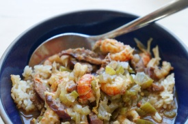 """Cajun Seafood Gumbo with Andouille Smoked Sausage"" from ""Chef Paul Prudhomme's Louisiana Kitchen"" by Paul Prudhomme"