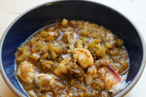 """""""Seafood Filé Gumbo"""" from """"Chef Paul Prudhomme's Louisiana Kitchen"""" by Paul Prudhomme"""