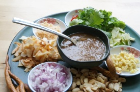 """""""Miang Käm (Mouthful of Tidbits Wrapped in a Leaf)"""" from """"It Rains Fishes: Legends, Traditions, and the Joys of Thai Cooking"""" by Kasma Loha-unchit"""