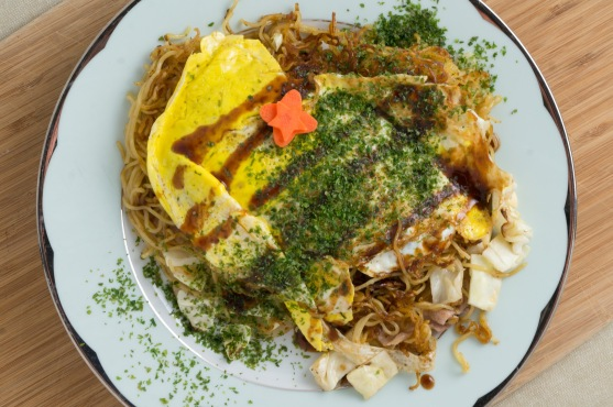 """Hiroshima-Style Okonomiyaki"" from ""Japanese Soul Cooking"" by Tadashi Ono & Harris Salat"